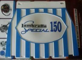 Lambretta 150 special Blue Stripped Mudflap