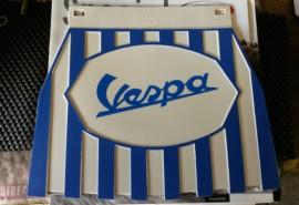 Vespa Blue & White Stripe Mudflap