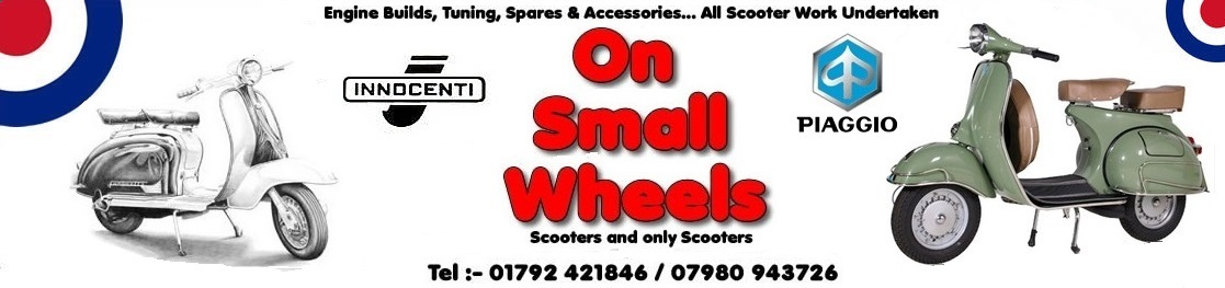 vespa, lambretta, scooters, swansea, south wales - On Small Wheels